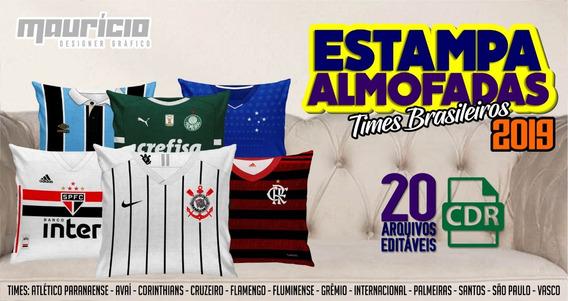 Estampas Para Almofadas - Times Brasileiros 2019