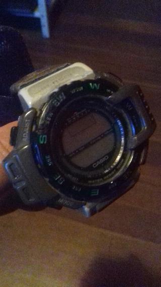 Casio Antigo Pro Trek Prt-40 Barometer Compass Thermo