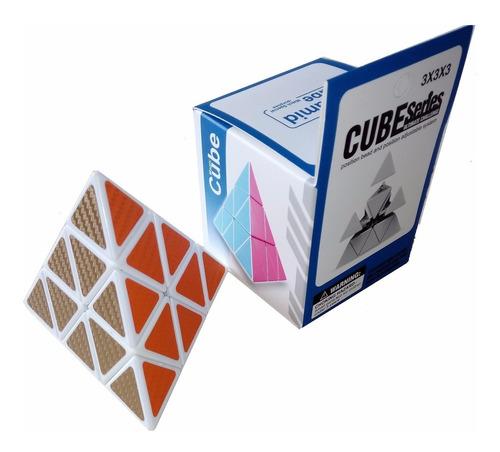 Cubo Rubik Piramide Pyraminx Colores Metalizado 3x3x3 Blanco