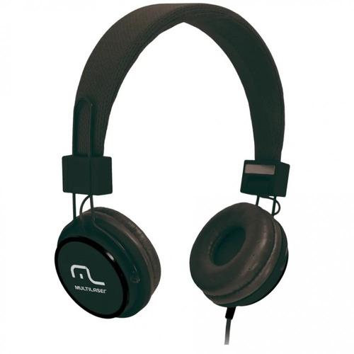 Fone de Ouvido Headphone Com Microfone Headfun Preto Multilaser