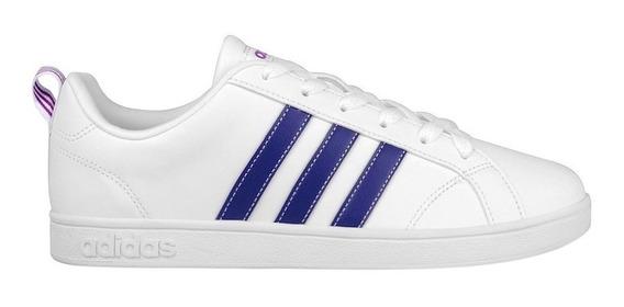 Tenis adidas Vs Advantage Blanco Mujer Aw3865 Look Trendy