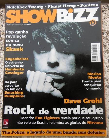 Revista Showbizz 180 Foo Fighters Engenheiros Skank 07/2000