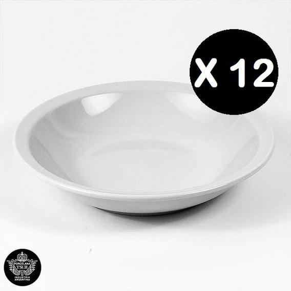 12 Plato Hondo 21cm Tsuji Porcelana Linea 450 Con Sello