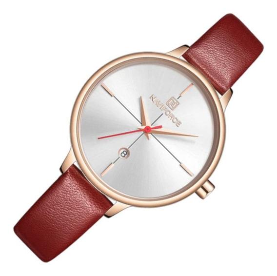 Relógio Feminino Naviforce 5006 Vermelho Casual