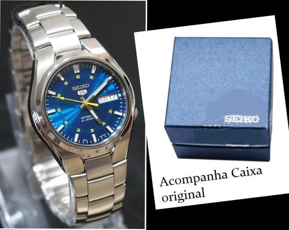 Relógio Automático Seiko Snk615 K1 Aço Inox + Caixa Original