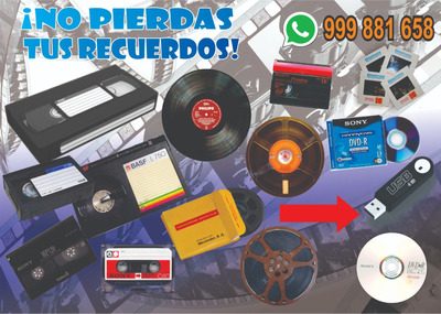 Digitalización Vhs Hi8 Super8 Mp4 Dvd Betamax Dvd Mp4 Slides