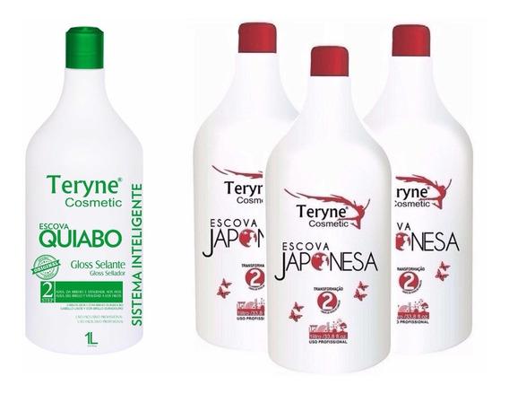 1 Ativo Escova Quiabo + 3 Ativo Escova Japonesa Teryne