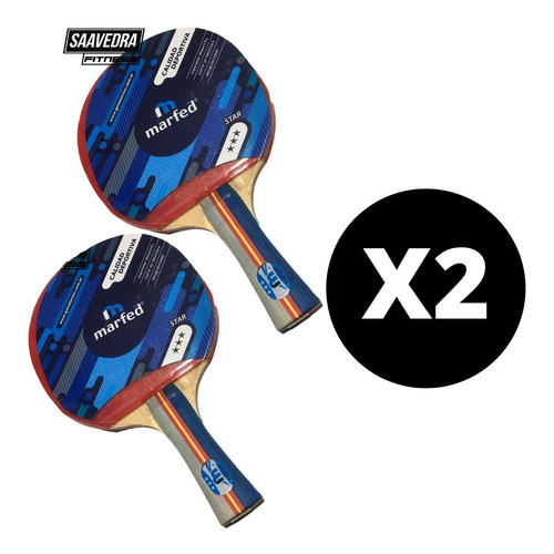 Paleta Ping Pong 3 Estrellas Pack X 2 Unidades