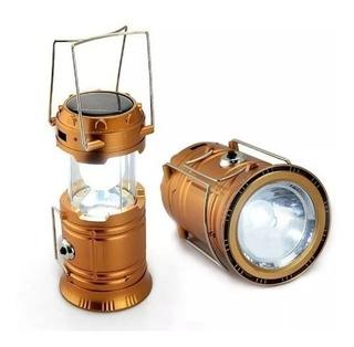 Lanterna Lampião Recarregável Usb E Solar