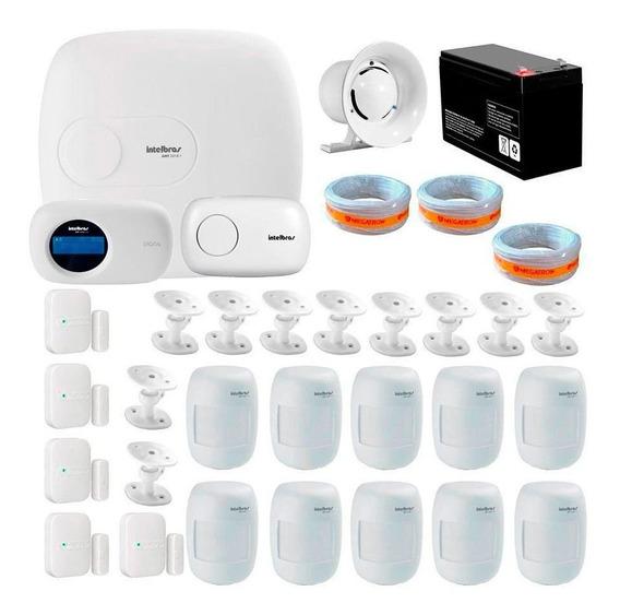 Kit Alarme Residencial Intelbras Amt 2018e + 12 Sensores Mag