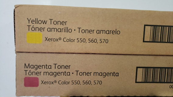 Cartucho De Toner Original Xerox X550/560 Amarelo 006r01530