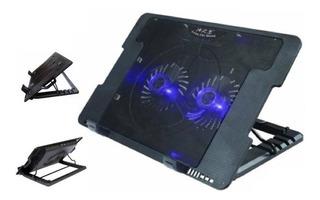 Cool Pad Base Enfriadora 2 Ventiladores Laptop 5 Posiciones