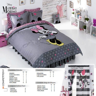 Cortinas Minnie Gris Marca Competition