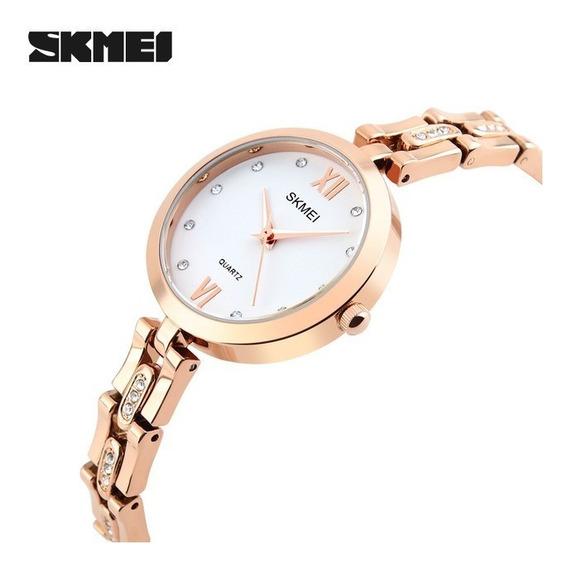 Relógio Feminino Skmei 1225 Luxuoso Envio Em 24h Original