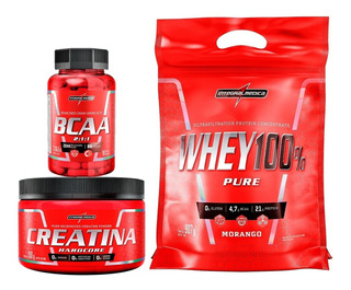 Kit Super Whey 100% Pure + Creatina + Bcaa - Integral Médica
