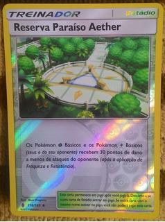 Pokemon Reserva Paraíso Aether Reverse Foil Sol E Lua Guardi