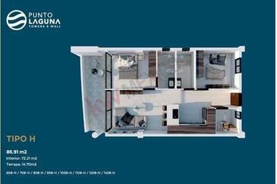 Condo Suite Tipo H #1108 Con Vista A La Ciudad En Punto Laguna