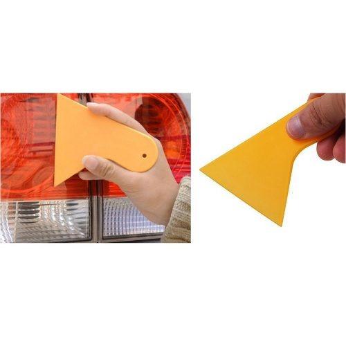 Kit 05 Espátulas Mini Insulfilm Automotivo Batedor Amarela