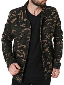 Jaqueta Jeans Masculina Bivik Verde Militar
