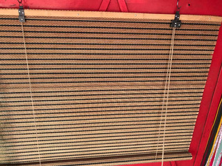 4 Cortinas De Bamboo.1x2m Y Una De 0,80x2m.varilla Marron