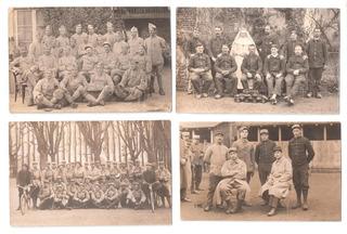 Fotos De Militares Da 1° Gerra Mundial 9 Cartões Postais .