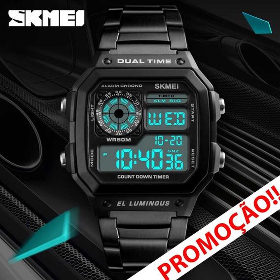 Relógio Esportivo Vintage Skmei Promoção Black Friday 1335