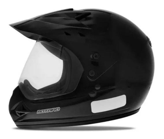 Capacete Para Motocross Ebf Motard Solid Preto Fosco
