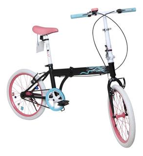 Bicicleta Infantil Plegable Bia Disney Original Rodado 20