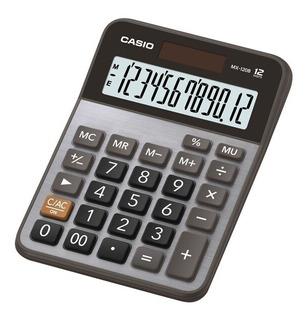 Calculadora Casio Mx-120b Prata De Mesa 12 Dig. Nf Lacrada