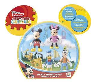 Set X5 Muñecos Mickey Sobre Ruedas Pluto Donald Mundo Manias