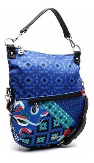 - Cartera Desigual Azul Explore Folded Nueva Con Envío