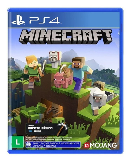 Minecraft Ps4 Português Playstation 4 Mídia Física