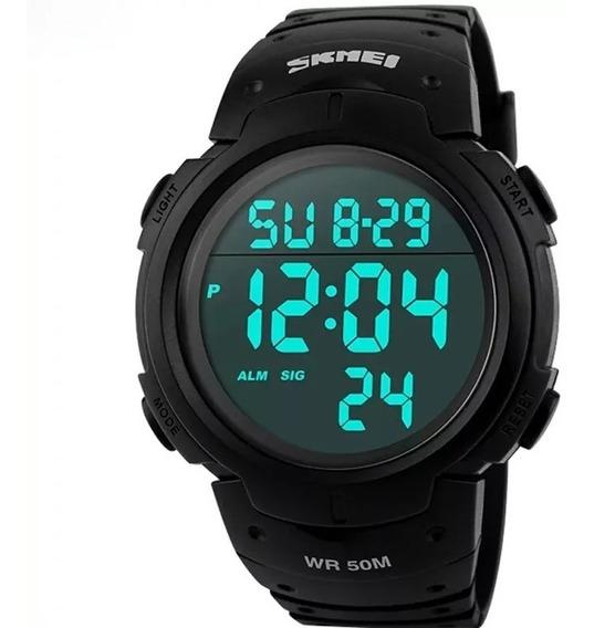 Relógio Masc. Skimei 1068 Digital Led Sport A Prova D