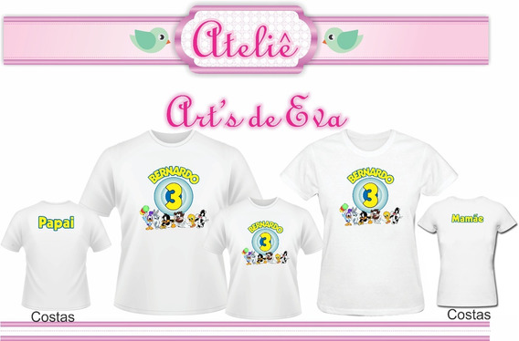 Kit Camiseta Personalizada Baby Looney Tunes 3 Peças