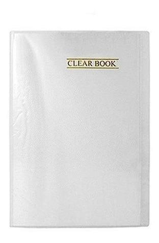Pasta Catalogo Clear Book - Incolor Plastpark