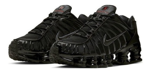 Tenis Nike Shox Tl 12 Molas Preto Black Red 41 44 Original