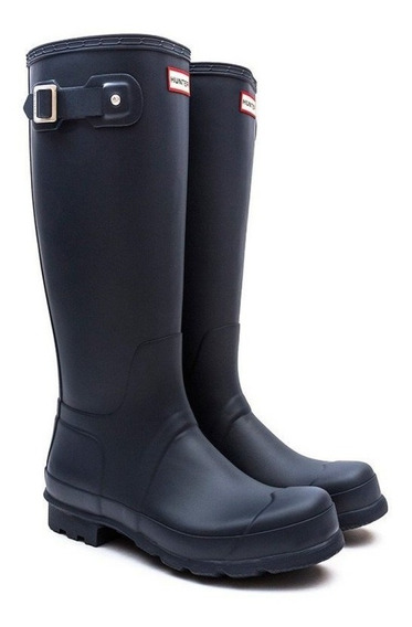 Botas Hunter De Lluvia Original Tall Azul Mate Navy