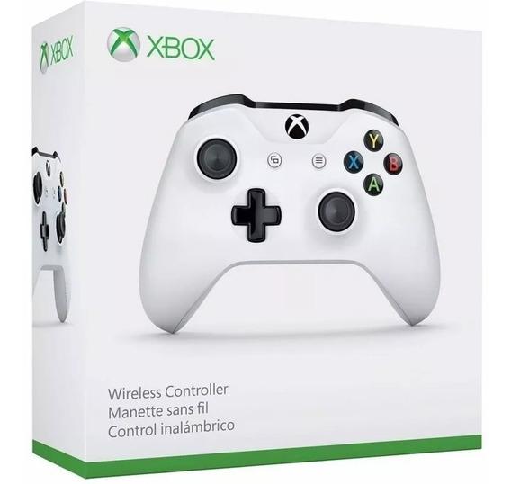 Controle Xbox One S Branco Wireless E Bluetooth