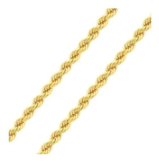 Pulseira Torcida Cordão Baiano Medida 17cm De Ouro 18k 750