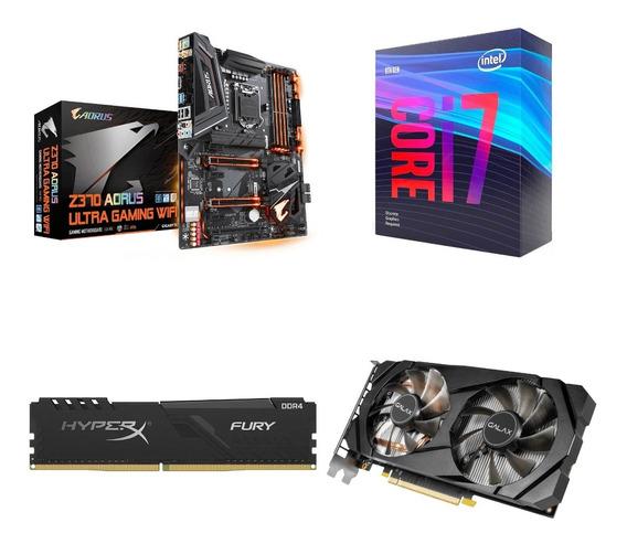 Intel Core I7-9700f + Z370 Aorus + Rtx 2060 + Memoria 8gb