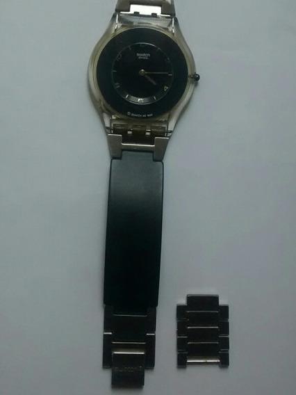Reloj Swatch Skin Negro Con Eslabones Extras Año 1999