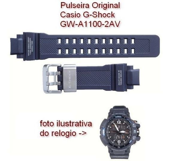 Pulseira Casio G-shock Resina Azul Gw-a1100-2a 100% Original