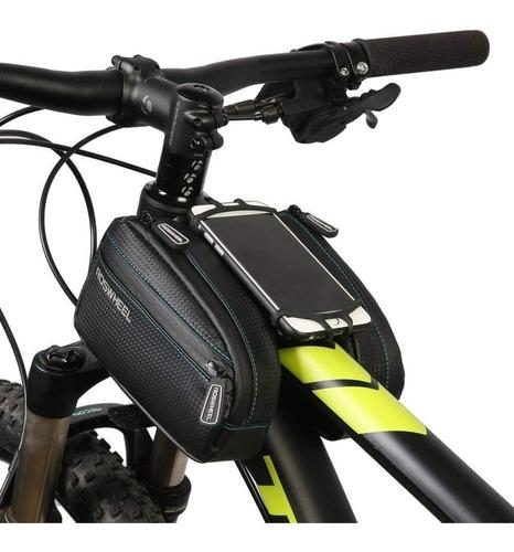 Bolso Porta Celular Delantero 2 Alforjas Bicicleta Universal