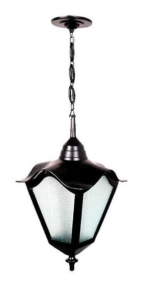 Luminária Romana De Teto Base E Corrente Em Alumínio 34cm