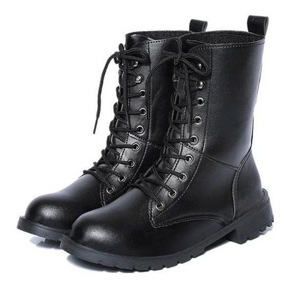 Pu Cuero Martin Corto Botas Zapatos Para Unisex