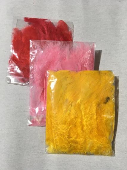 Plumas Color De 8cm/15cm X 50 Unidades