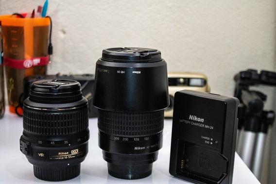 Câmera Nikon D5100 + Lentes