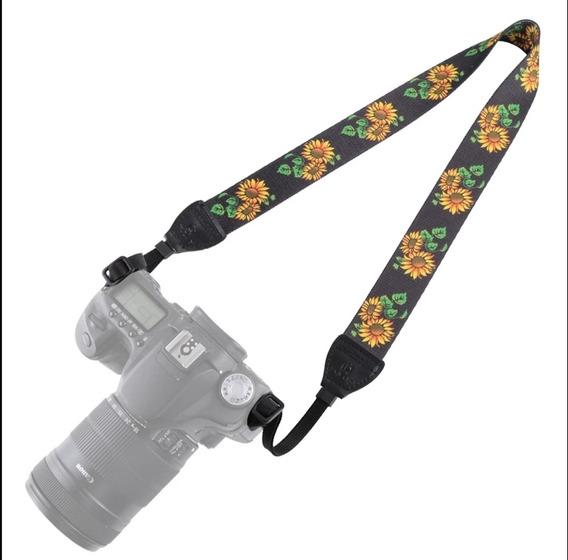 Alça De Ombro Pescoço Girassol Dslr Canon Nikon Sony