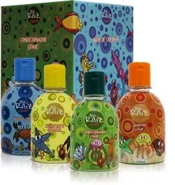 Kit Com 5 Juvenil Bio Raiz Shampoo+cond+colonia+hidratante