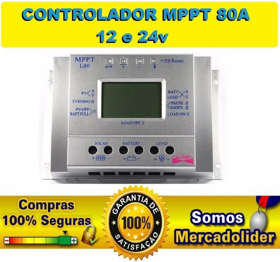 Controlador De Carga Energia Solar Mppt L80 80a